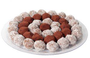 מגש טראפלס שוקולד- 40 יחידות